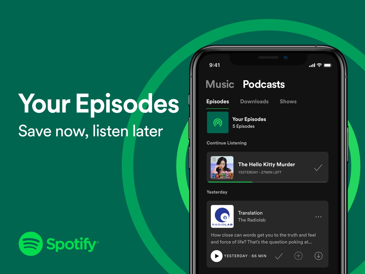 your episodes spotify