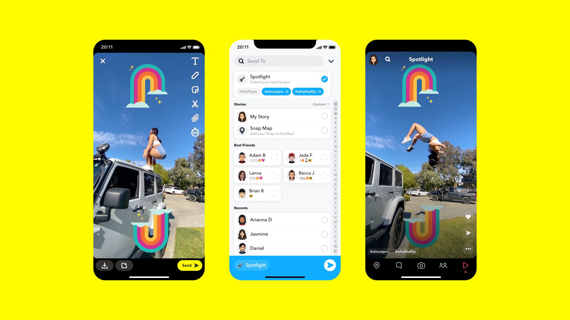 Snapchat challenges TikTok with curated video feed