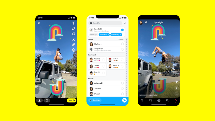 Snapchat launches a TikTok-like feed called Spotlight, kick-started by paying creators – TechCrunch