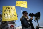 Uber And Lyft Drivers Protest For Fairer Pay