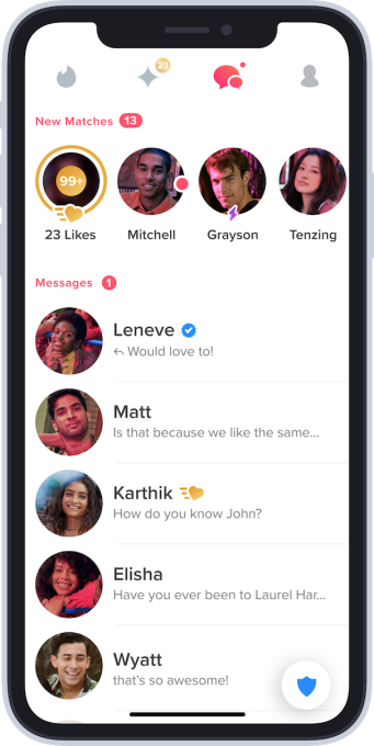 What do the tinder icons mean