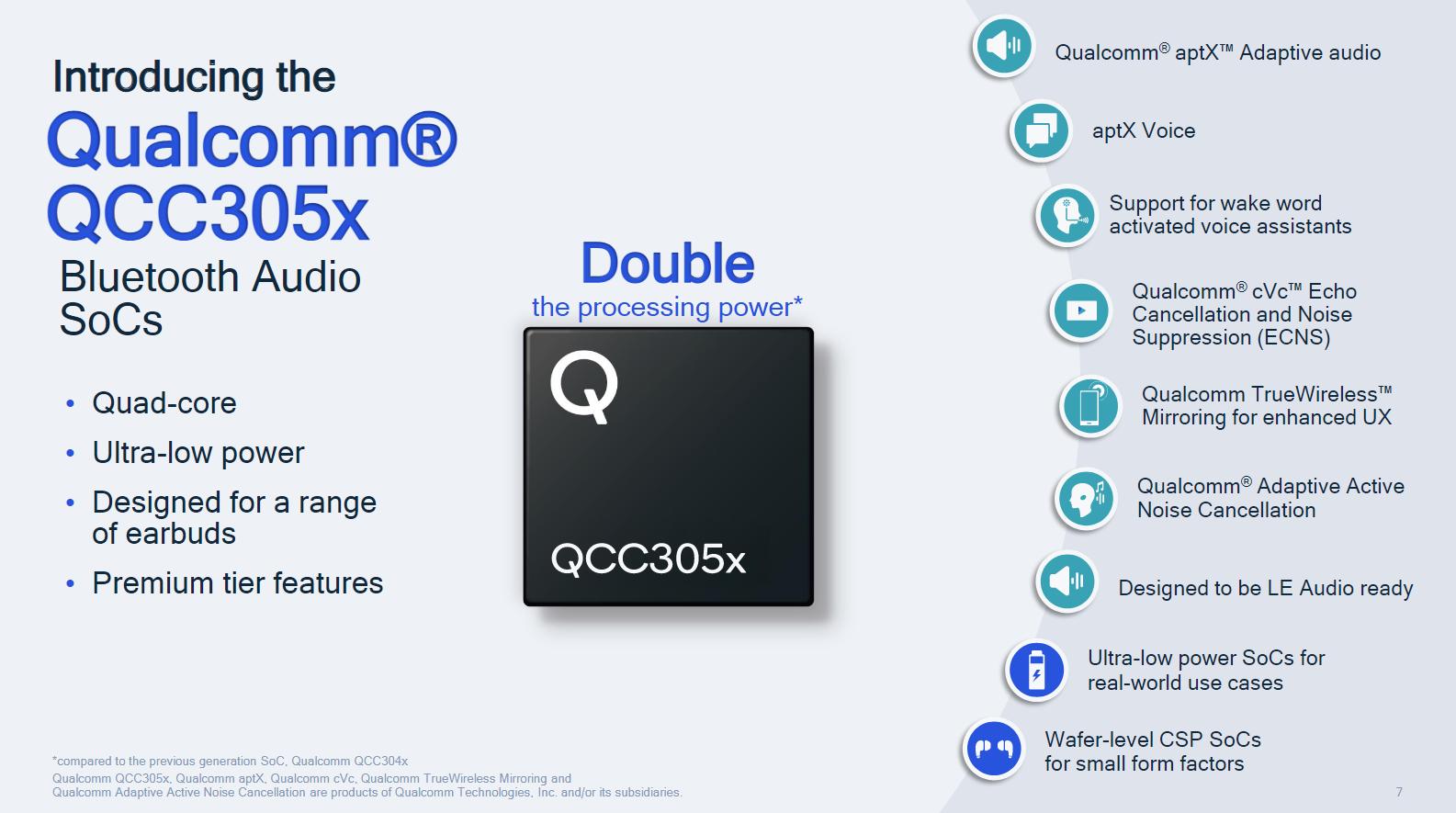 QCC305x SoCs