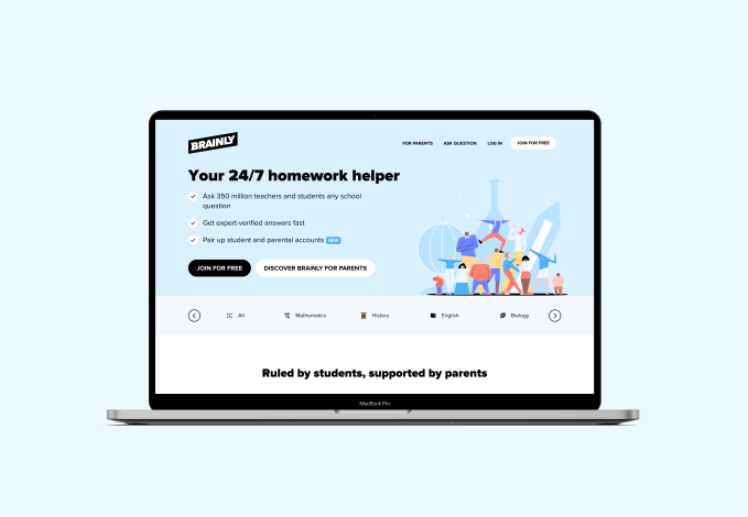 Brainly raises $80M as its platform for crowdsourced homework help balloons to 350M users