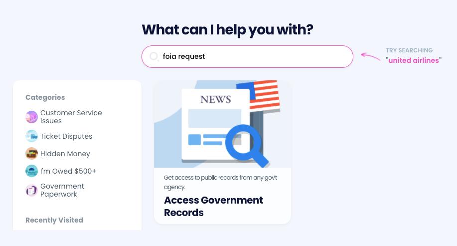 A screenshot of Do Not Pay's website.