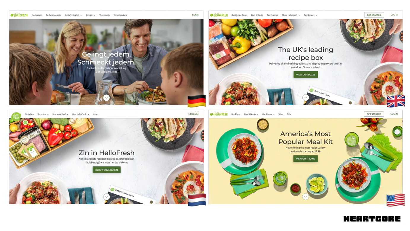 localized pages for HelloFresh