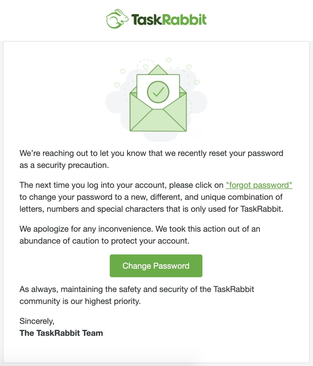 TaskRabbit is resetting customer passwords after finding 'suspicious activity' on its network