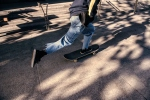Skateboarder on San Francisco Street