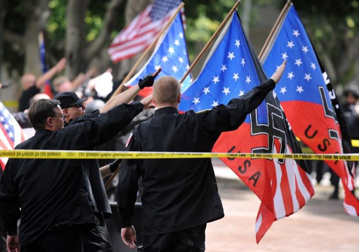 Members of the neo-nazi group, The Ameri