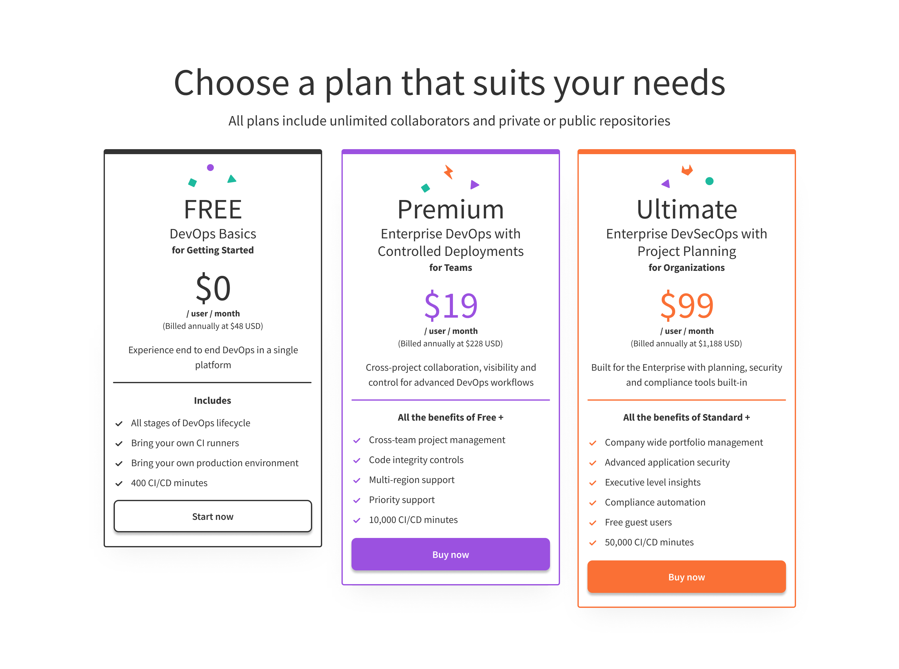 GitLab reshuffles its paid subscription plans, drops its Bronze/Starter tier