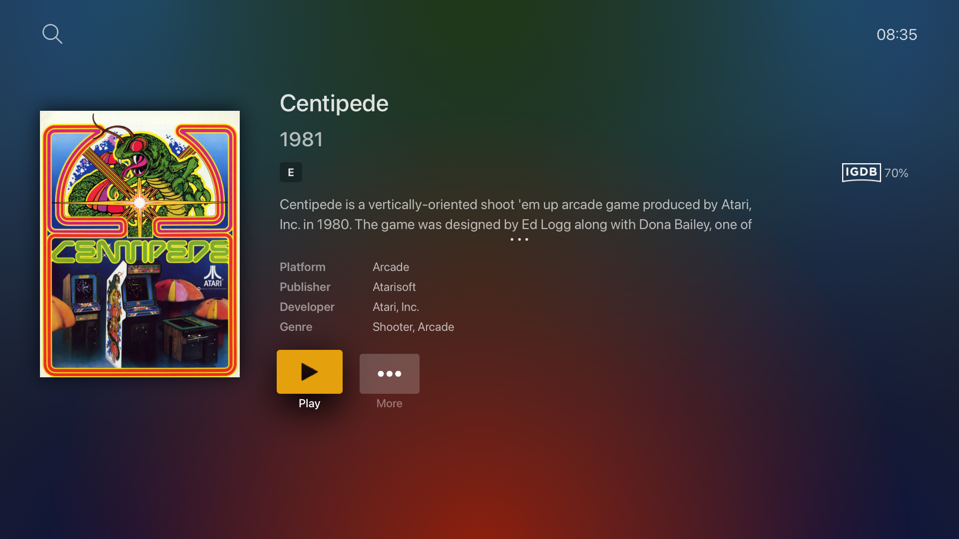 You can now stream arcade games right from within Plex