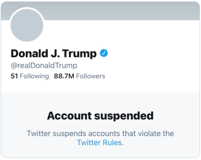 Twitter permanently bans President Trump