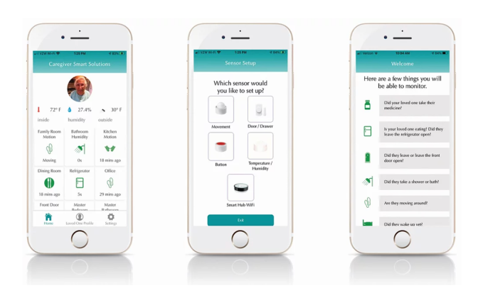 Caregiver Smart Solution's app for caregivers to coordinate tasks
