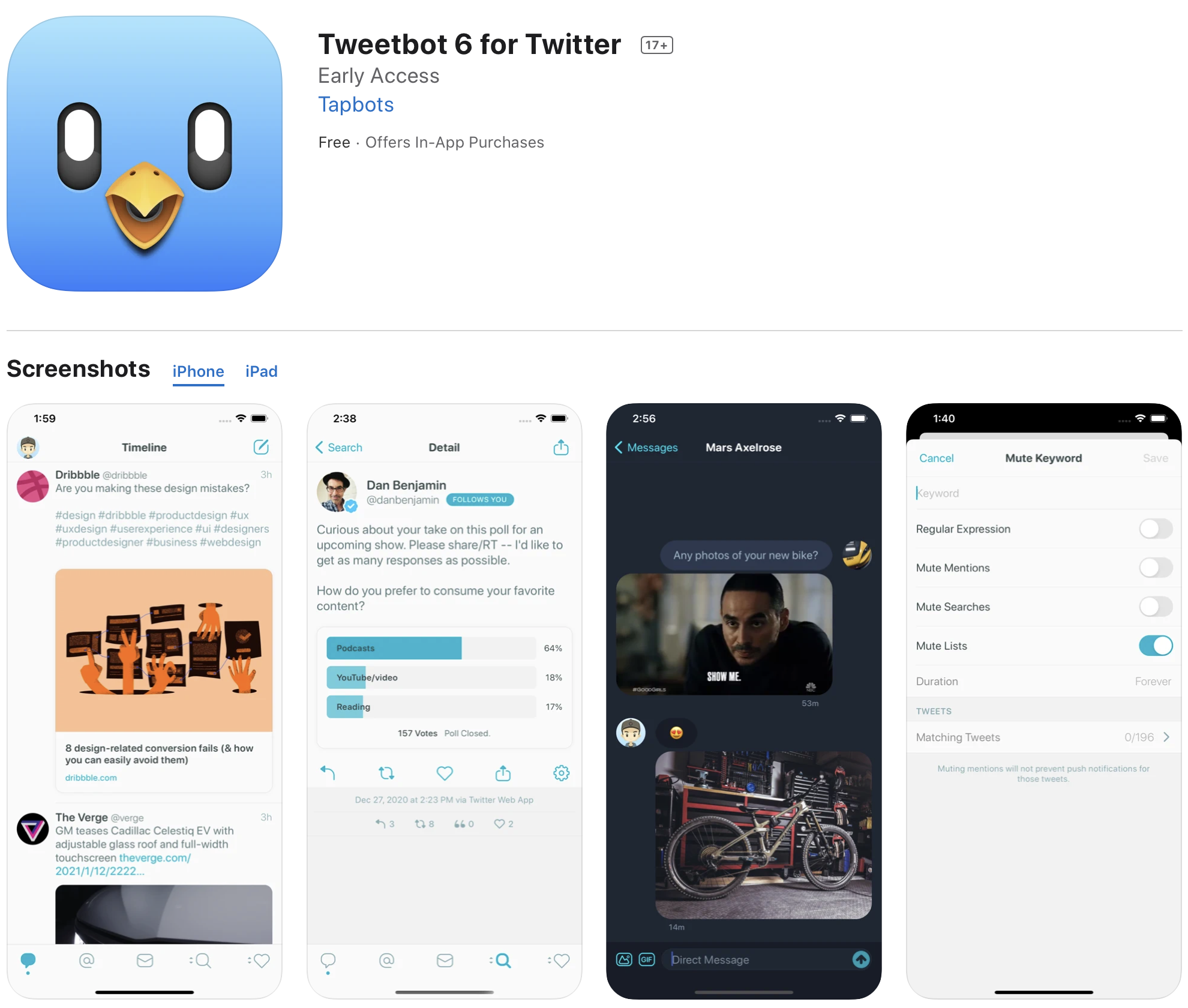Tweetbot 6 released with new subscription pricing