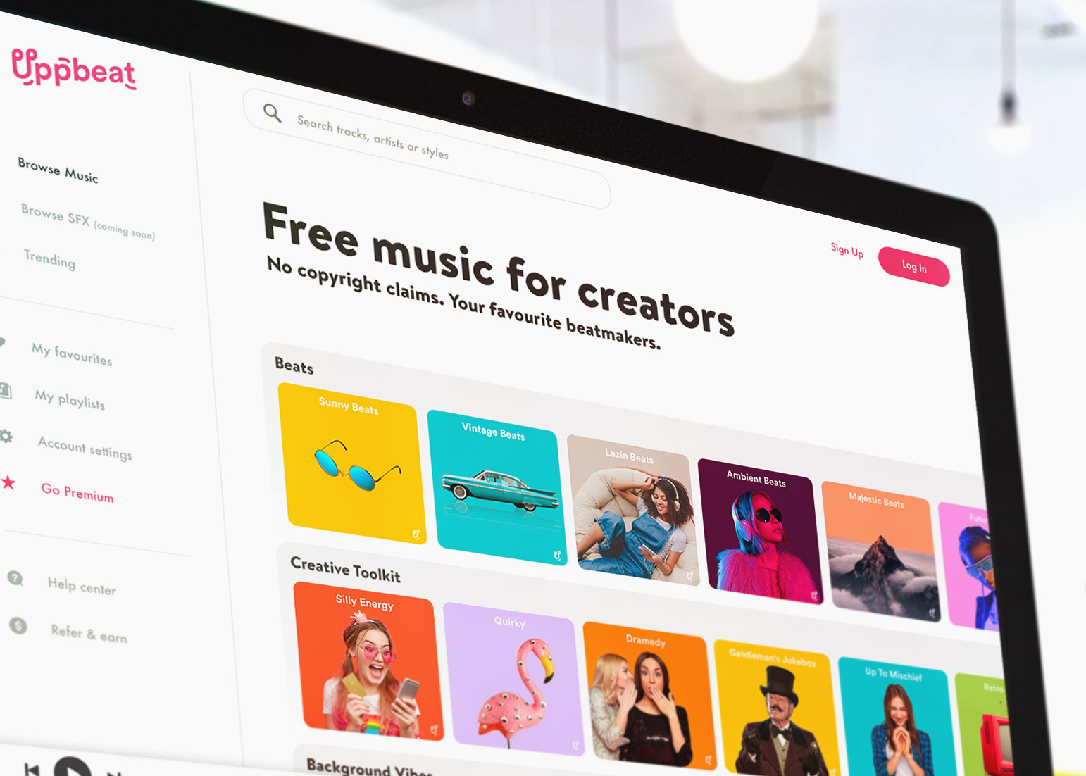techcrunch.com - Sarah Perez - Uppbeat launches a freemium music platform aimed at YouTubers