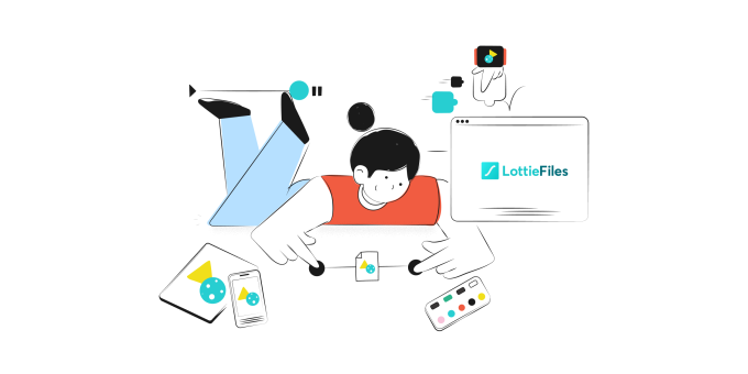 An illustration from animation startup LottieFiles