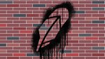 illustration of robinhood feather logo spraypainted on a brick wall