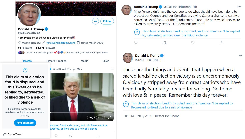 Facebook και Twitter «μπλοκάρουν» τον Τραμπ μετά τη βία στο Καπιτώλιο!
