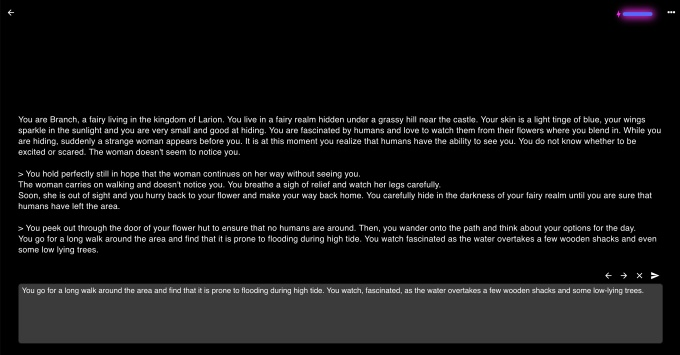 AI Dungeon screenshot