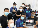 A group photo of Singapore-based startup Bot MDs team