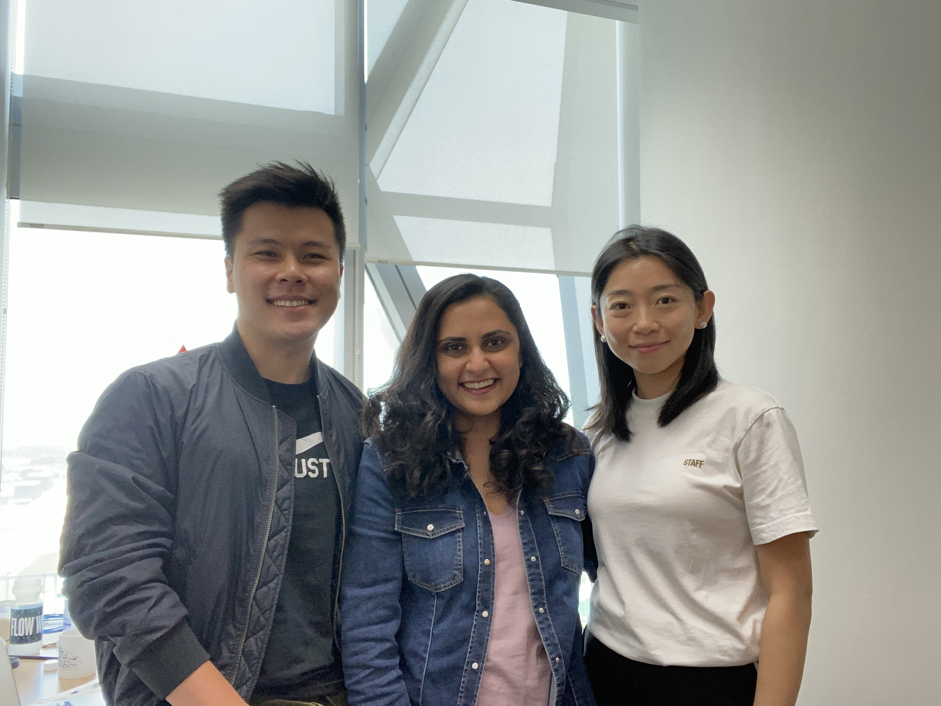 A photo of social commerce startup Raena's team. From left to right: chief operating officer Guo Xing Lim, chief executive officer Sreejita Deb and chief commercial officer Widelia Liu