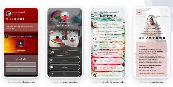 Beacons debuts a 'link in bio' mobile website builder that helps creators make money, not just list links – TechCrunch beacons sites