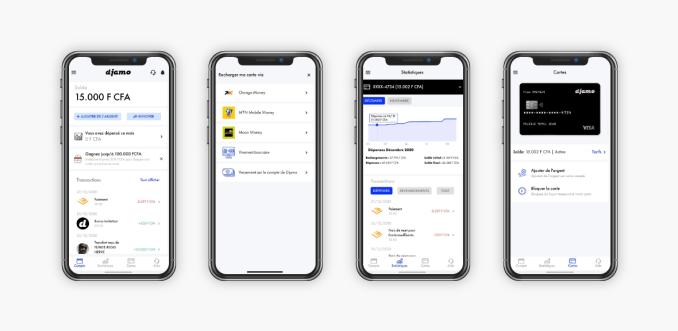 YC-backed Djamo is building a financial super app for consumers in Francophone Africa – TechCrunch djamo app screens presentation