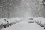parking street snow