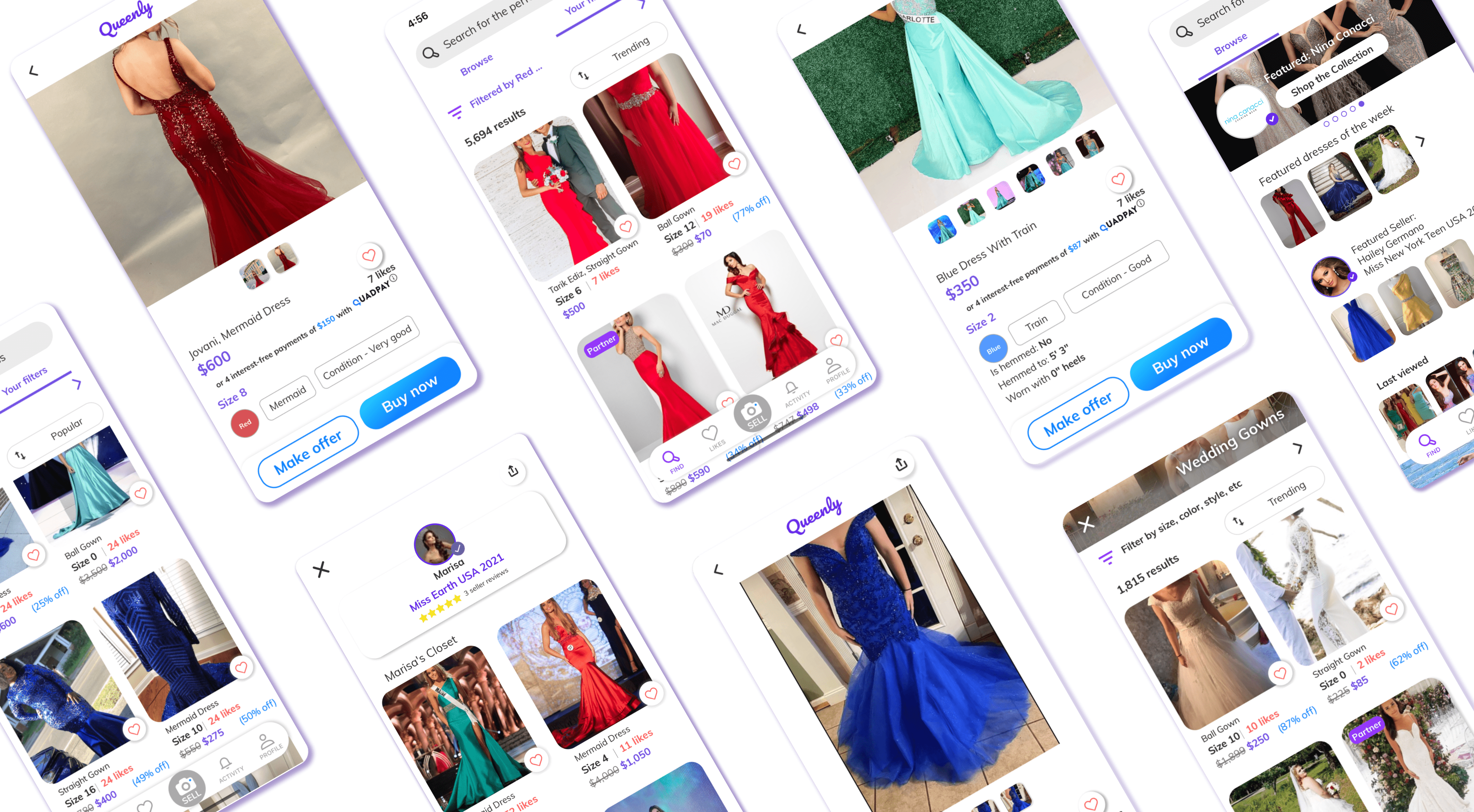 YC-backed Queenly launches a marketplace for formalwear – TechCrunch screenshots no logo