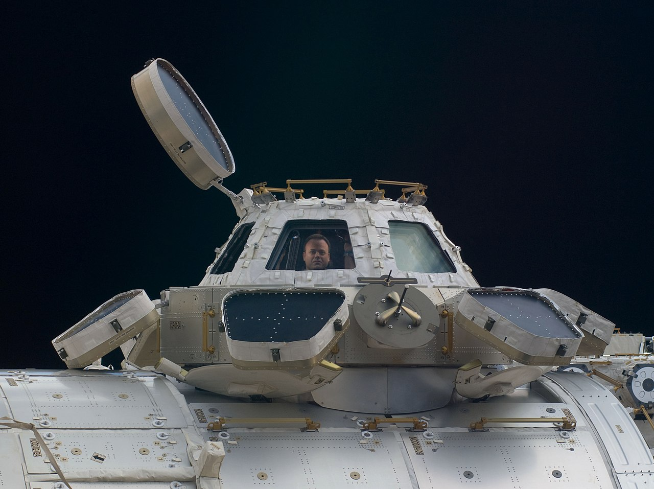 International Space Station cupola exterior.