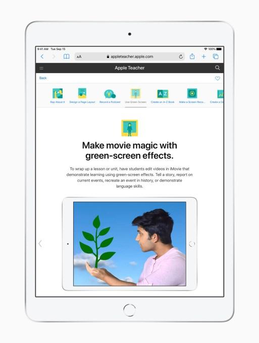 Apple ipad apple teacher portfolio green