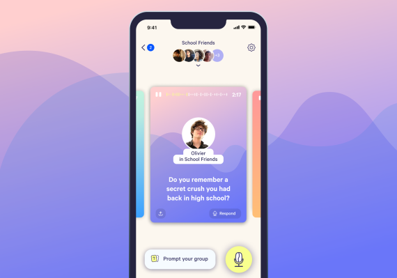 Cappuccino lets you share short, intimate audio stories with your friends