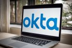 The Okta Inc. logo on a laptop computer arranged in Dobbs Ferry, New York, U.S., on Sunday, Feb. 28, 2021. Okta Inc. is scheduled to release earnings figures on March 3. Photographer: Tiffany Hagler-Geard/Bloomberg via Getty Images
