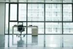 an empty desk in an Empty office