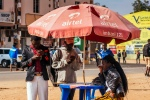 people under an airtel africa umbrella