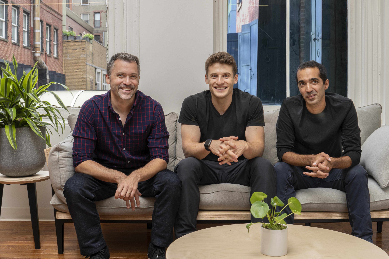 Ro co-founders Rob Schutz, Zachariah Reitano and Saman Rahmanian (left to right)