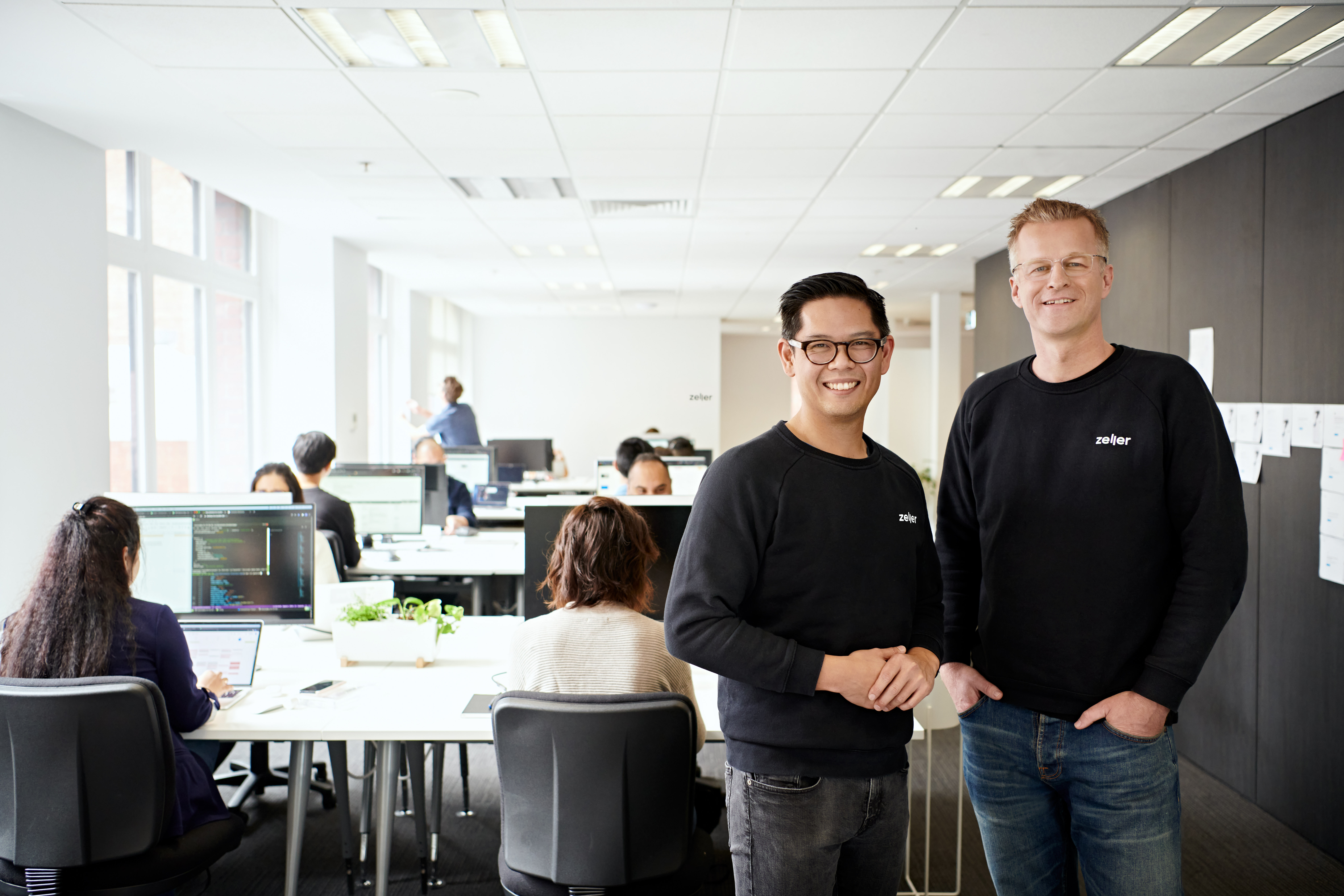 A photo of Dominic Yap, chief operating officer and co-founder, and Ben Pfisterer, chief executive officer and co-founder of Zeller