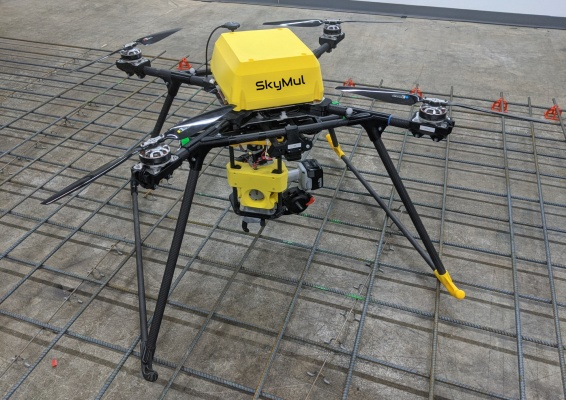 SkyMul's drones secure rebar on the fly to speed up construction