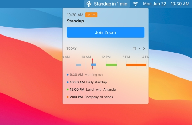 Superpowered lets you see your schedule and join meetings from the Mac menu bar - TechCrunch