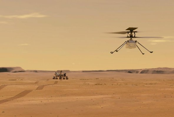 NASA makes history by flying a helicopter on Mars for the first time