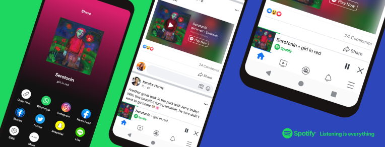 Facebook introduces a new miniplayer that streams Spotify within the Facebook app – TechCrunch