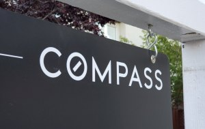 Home for sale with sign from technology driven realtor Compass Realty in San Ramon, California