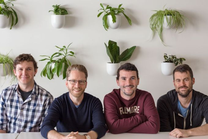 Mux founders Adam Brown, Steven Heffernan, Matt McClure and Jon Dahl