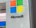 Microsoft Logo on Microsoft Store at Prudential Center in Boston, MA.