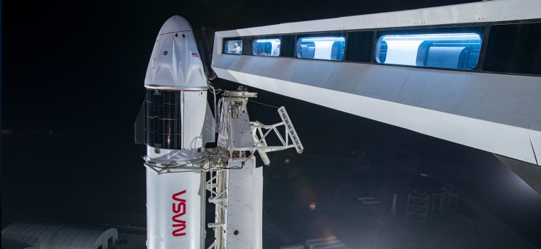 Watch SpaceX launch its second crew of Space Station astronauts on a flight-proven Falcon 9 live thumbnail