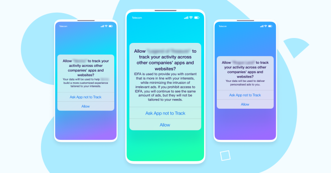 iOS14 consent examples prompt |
