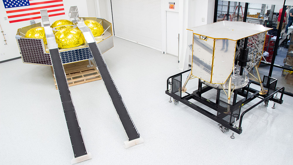 Astrobotic's Griffin lunar lander in development.