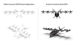 Wisk Aero alleges Archer copied its patented designs. This comparison was submitted to the court along with the complaint.