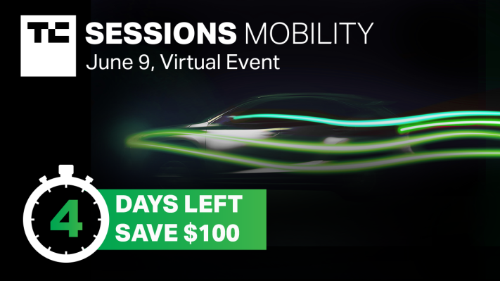 Only four more days to save $100 on passes to TC Sessions: Mobility 2021 – TechCrunch