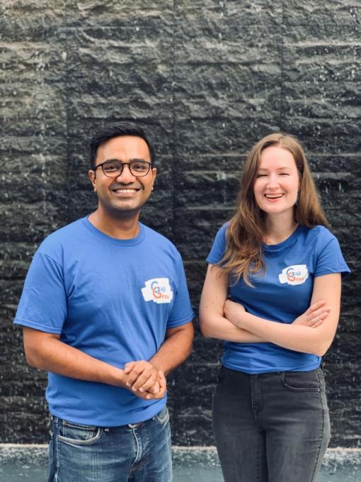 GajiGesa co-founders Vidit Agrawal and Martyna Malinowska