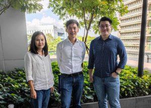 A group photo of Rainforest's team members Elita Subaja, J.J. Chai and Jerry Ng
